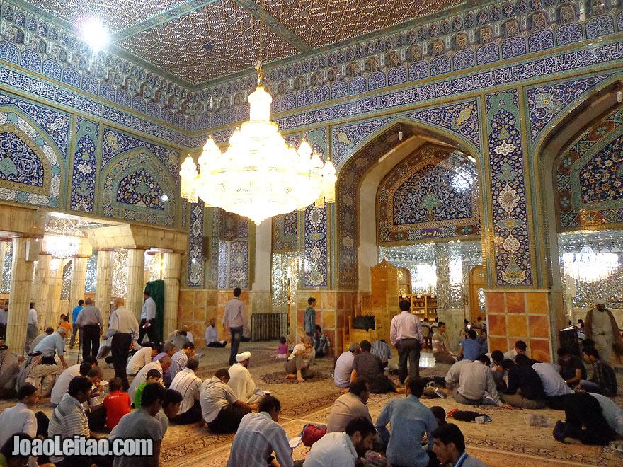 Prayer room at the tomb of Fatima Masumeh, in Qom