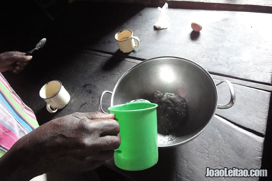 Mixing the ingredients - African Bread Recipe