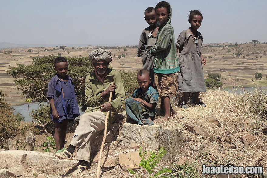 Ethiopian Family in Nova Gorgora