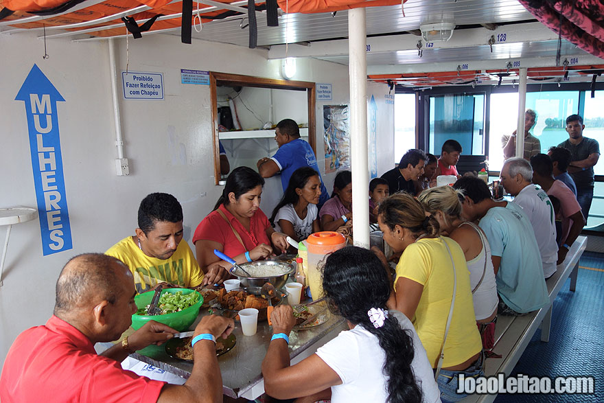 Food on Boat to Manaus