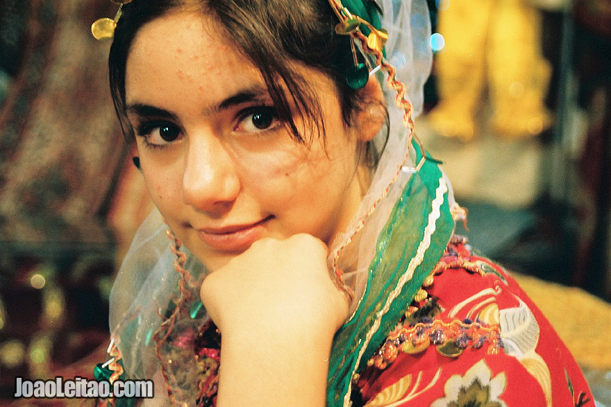 Iranian girl with traditional clothes