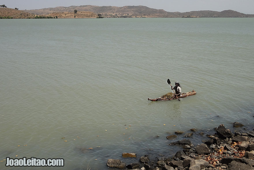 Fisherman in Lake Tana