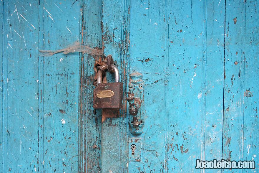 Door lock in Chefchaouen