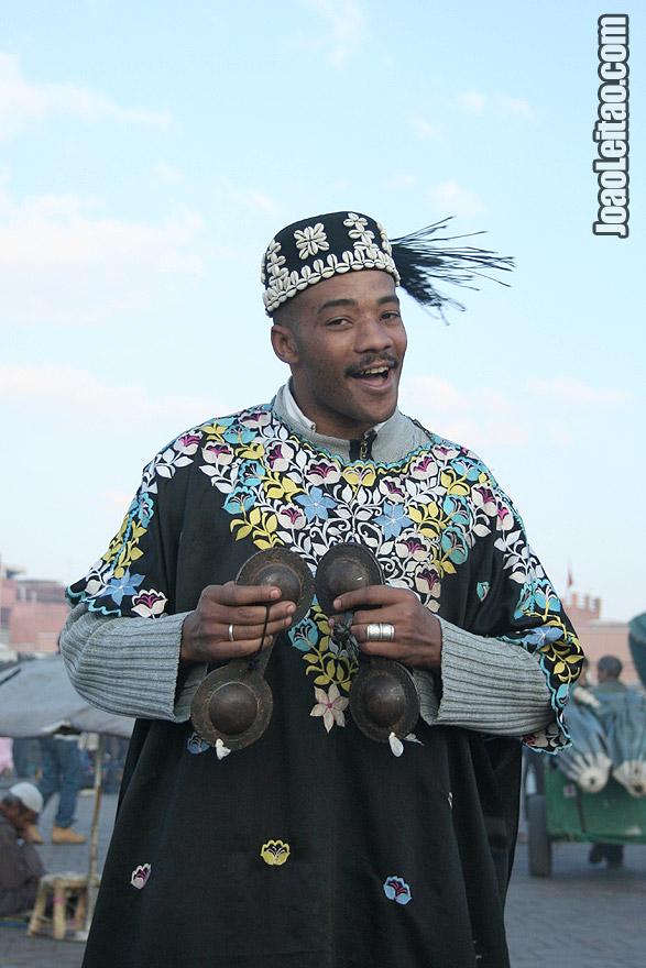 Gnawa musician in Djemaa El-Fna