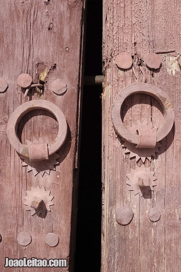Door knob detail in Marrakesh Medina