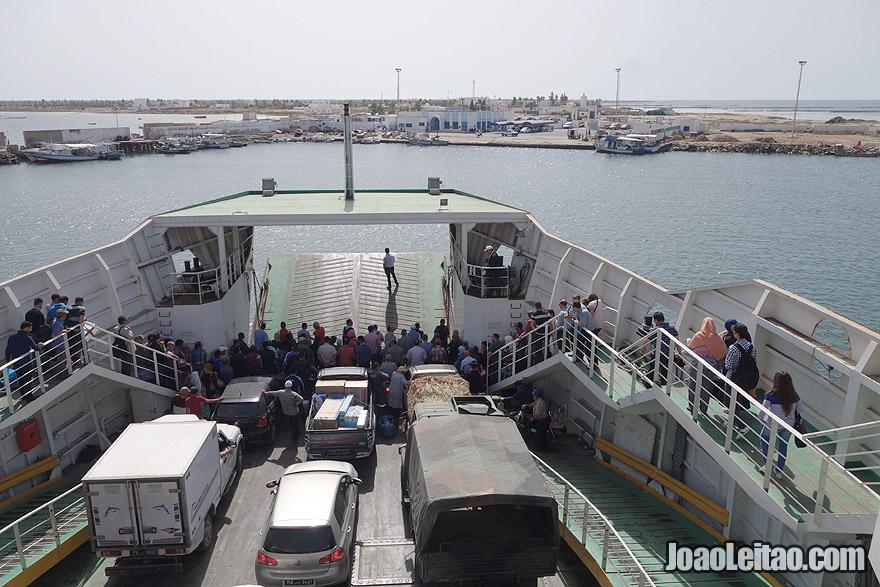 Ferry-boat from Sfax to Kerkannah Island