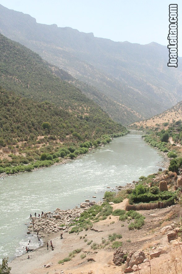 River on the road to Barzan, Iraq