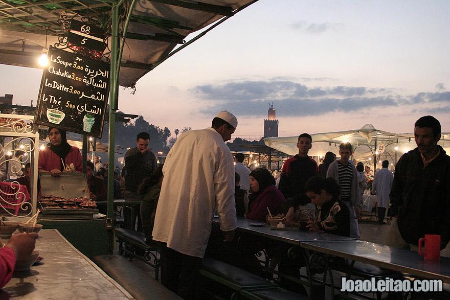 Restaurant stall of Marrakesh