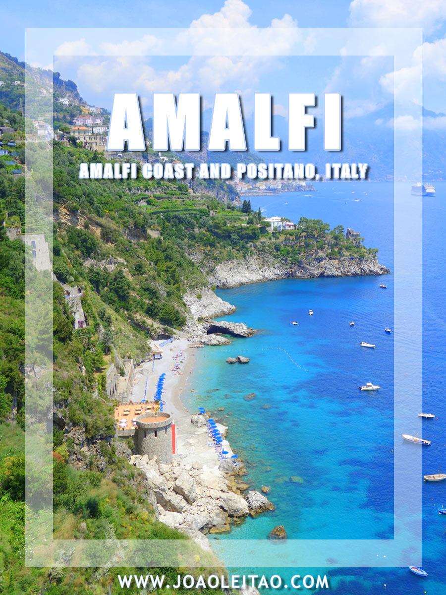 Idyllic views of the Amalfi Coast and Positano, Italy