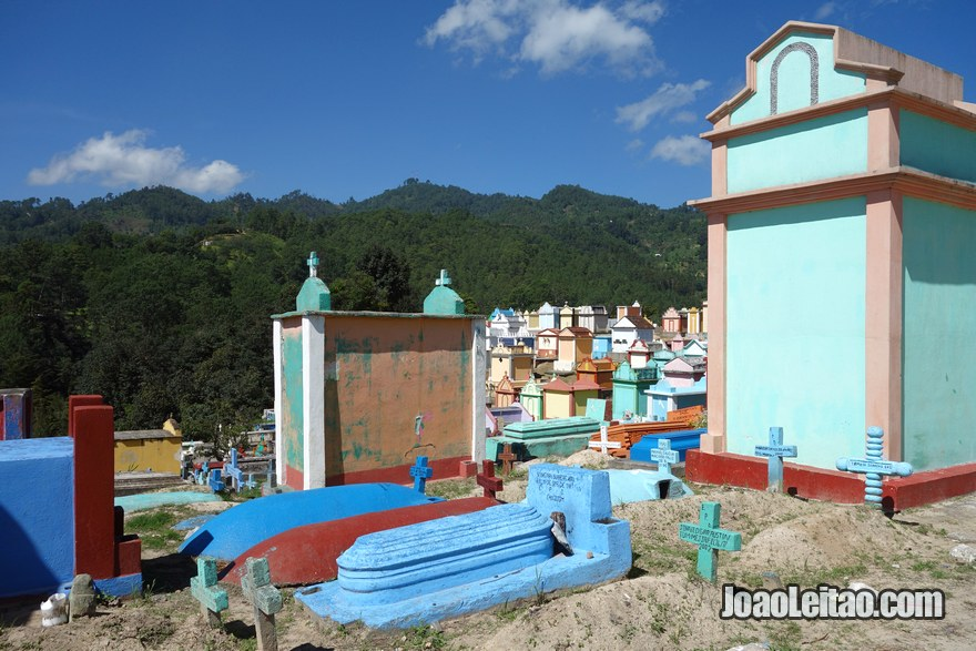 Colorful tombs inside Chichicastenango cemetery