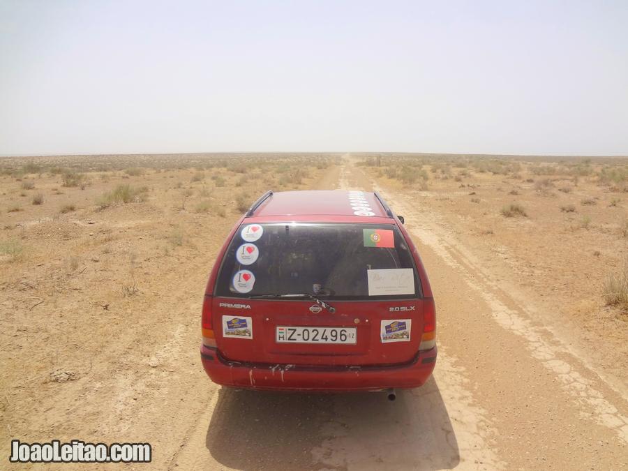 Nissan Primera 1.9 model 2002 somewhere in the Uzbek desert
