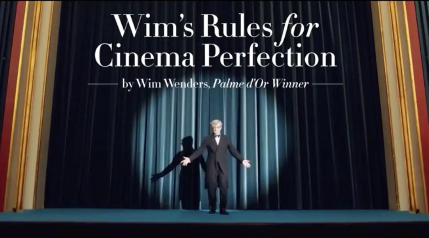 Read more about the article As regras do cinema segundo Wim Wenders – Take 2