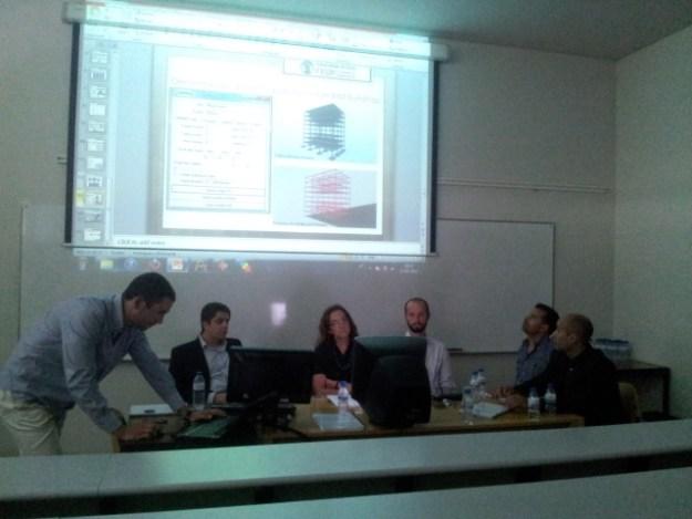 Sérgio Pinho a apresentar o seu trabalho de tese de MIEC na FEUP sobre BIM Estruturas