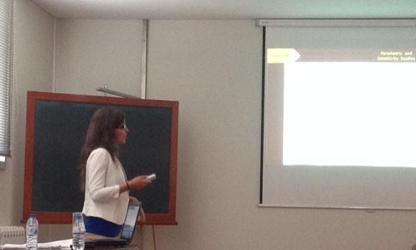 Ana Rita Silva a Apresentar Modelação de Propagação de Ondas