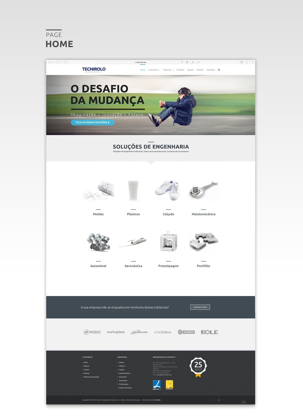 Web Design - Wordpress - Tecnirolo | Joao Santos Freelance - Digital Designer