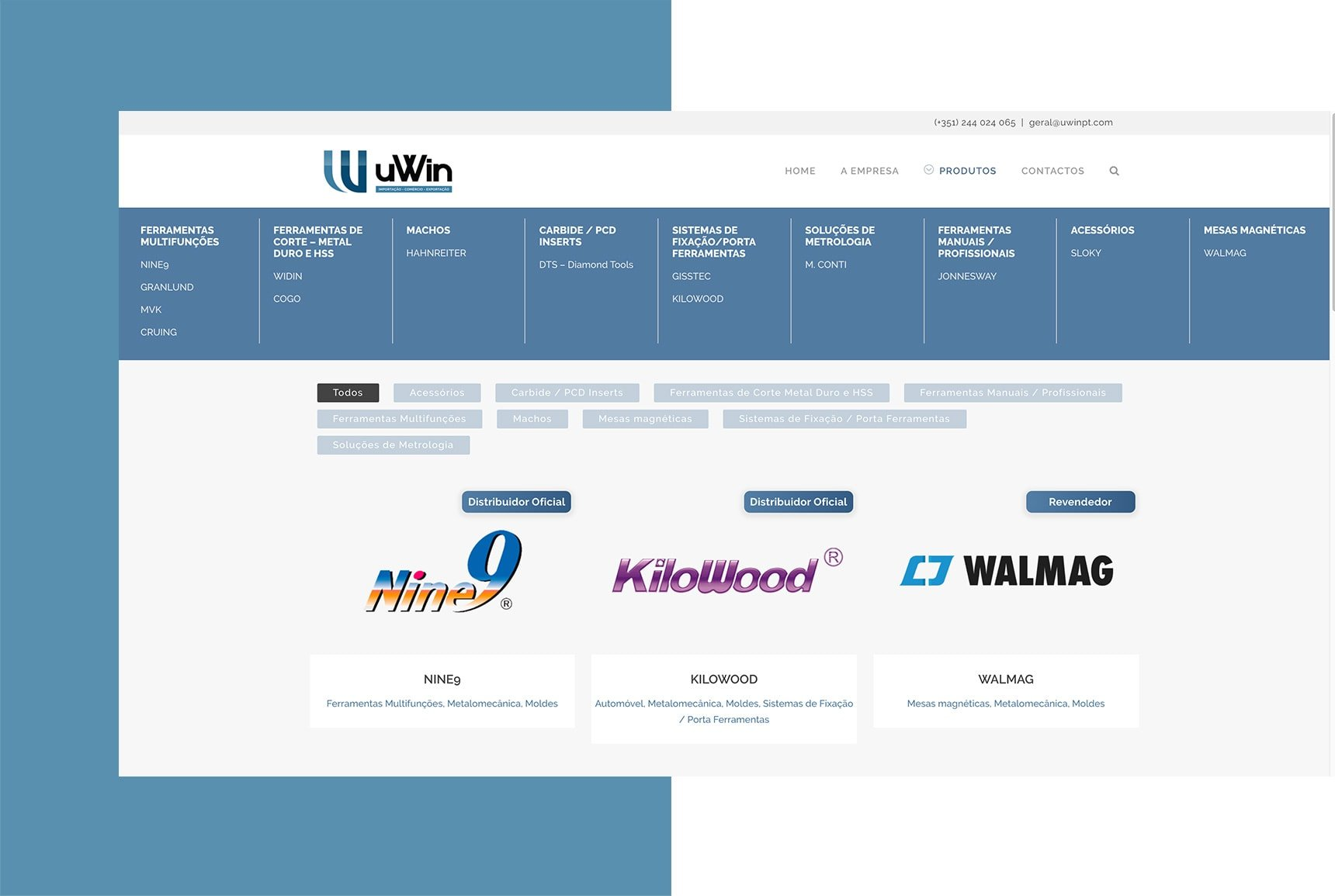 Mega Menu - uWin - WordPress website