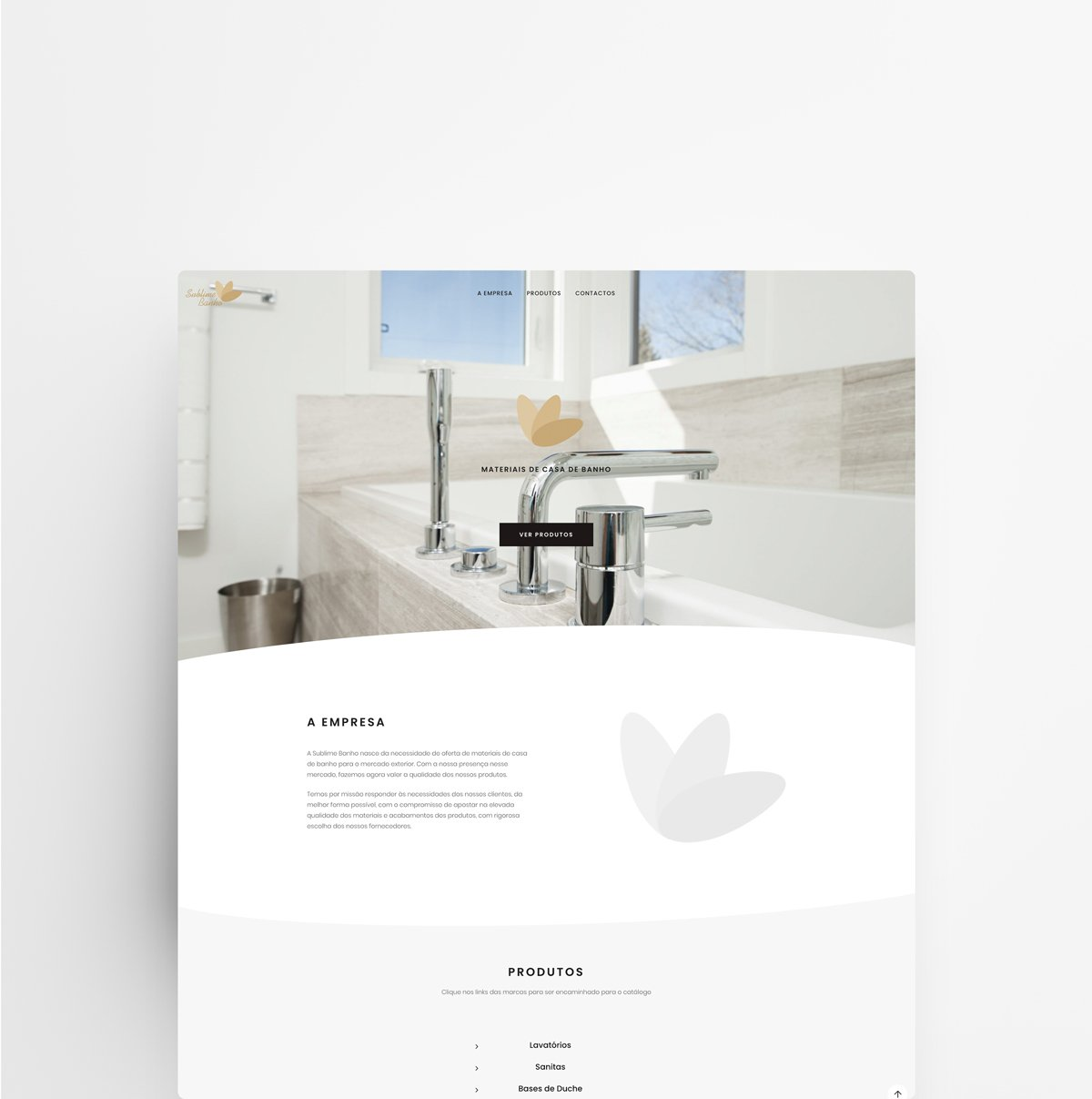 Web Design and Development - Sublime Banho | Web Designer - João Santos