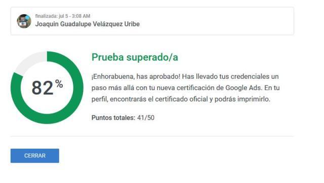 respuestas examen de certificación de busqueda de google ADS