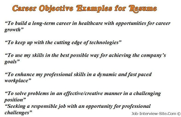 Career Objectives for Resumes