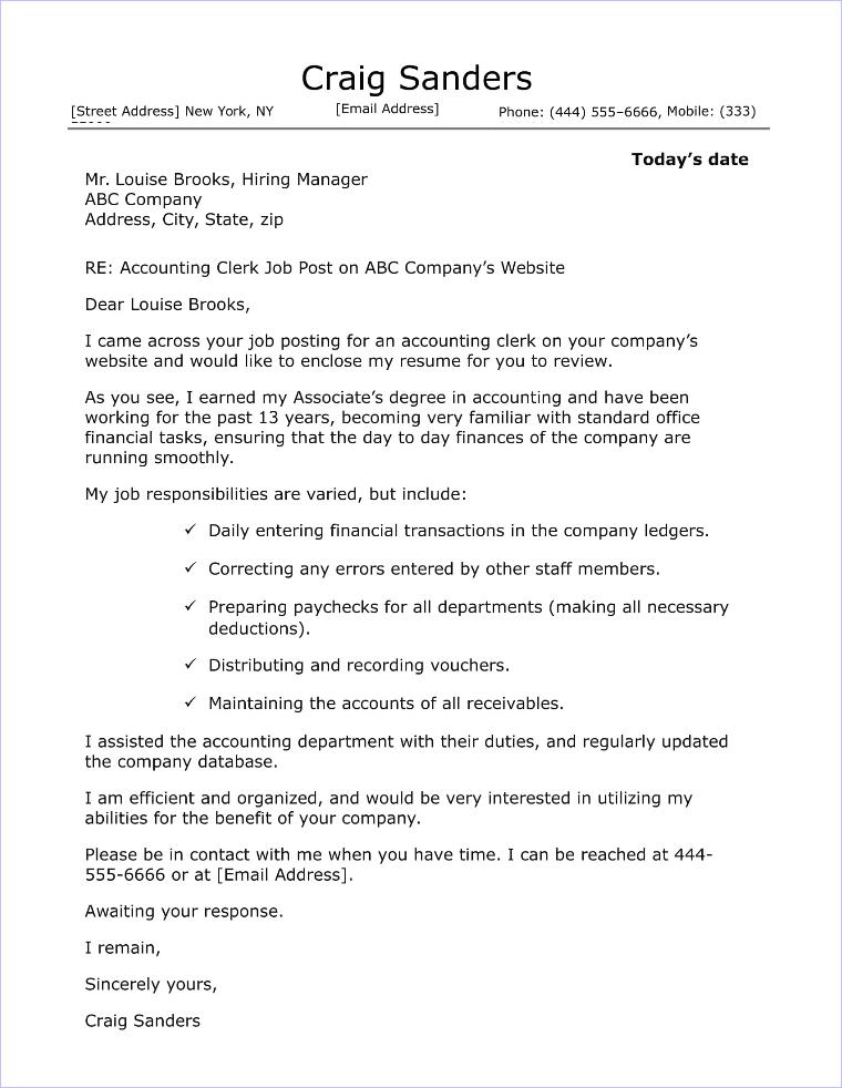 Returns Clerk Cover Letter - Cover Letter Resume Ideas ...