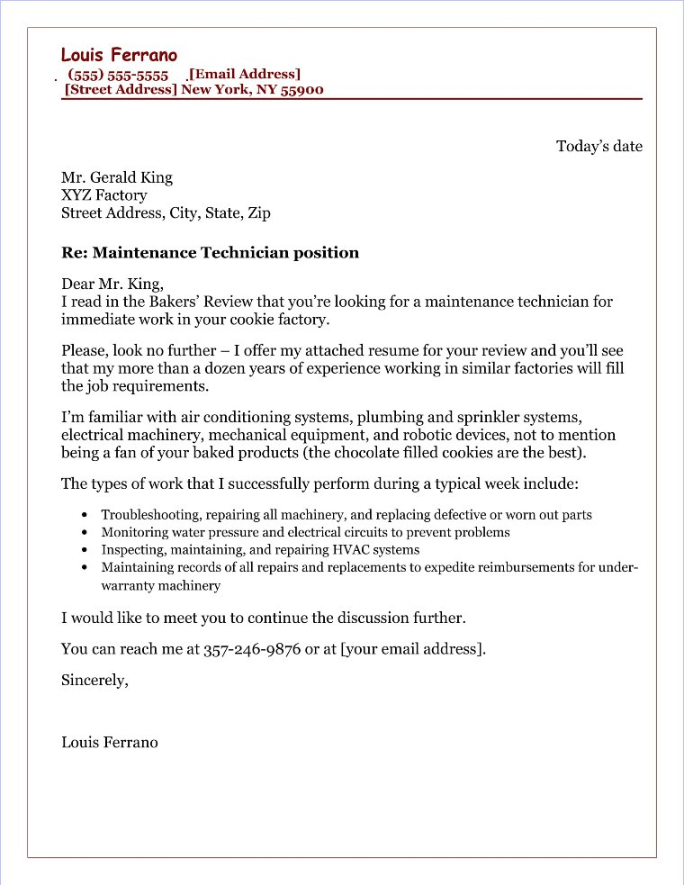 20 Free Cover Letter Samples for Different Jobs and Careers