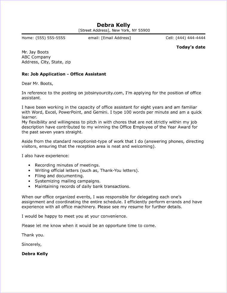 Cover Letter Office Administrator - Resume Examples | Resume ...
