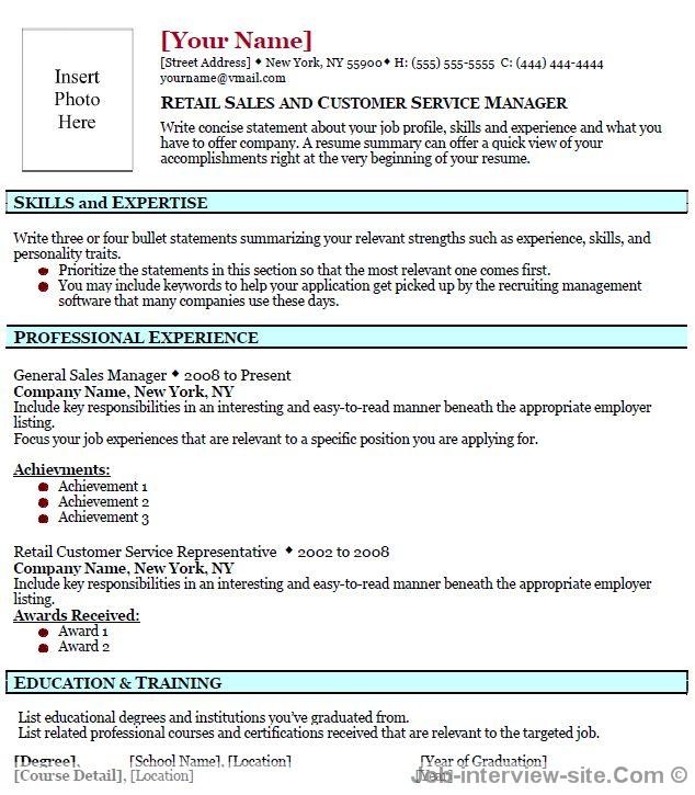 free professional sales resume template