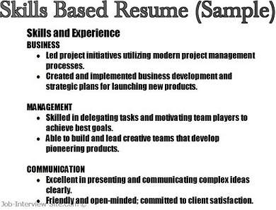 Skill For Resume Examples Resume Sample