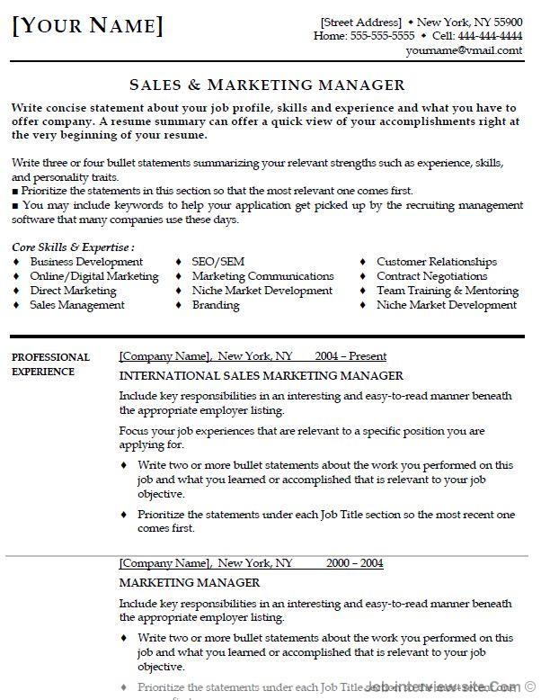 resume headline examples marketing