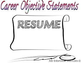 Resume Objective Statement Examples Of Phrases