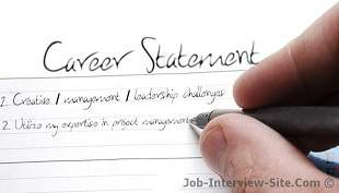 Career Statement Examples Of Career Objectives & Goals Statement