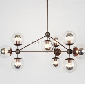 8916 amber glass ball chandelier for modern decorate dinning room