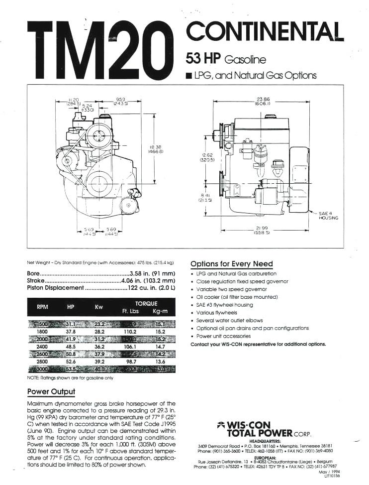 Continental TM20 power unit