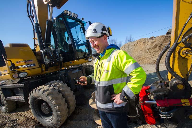 Ny teknologi hjelper bygg- og anleggsbransjen. Foto: Lasse Sørnes