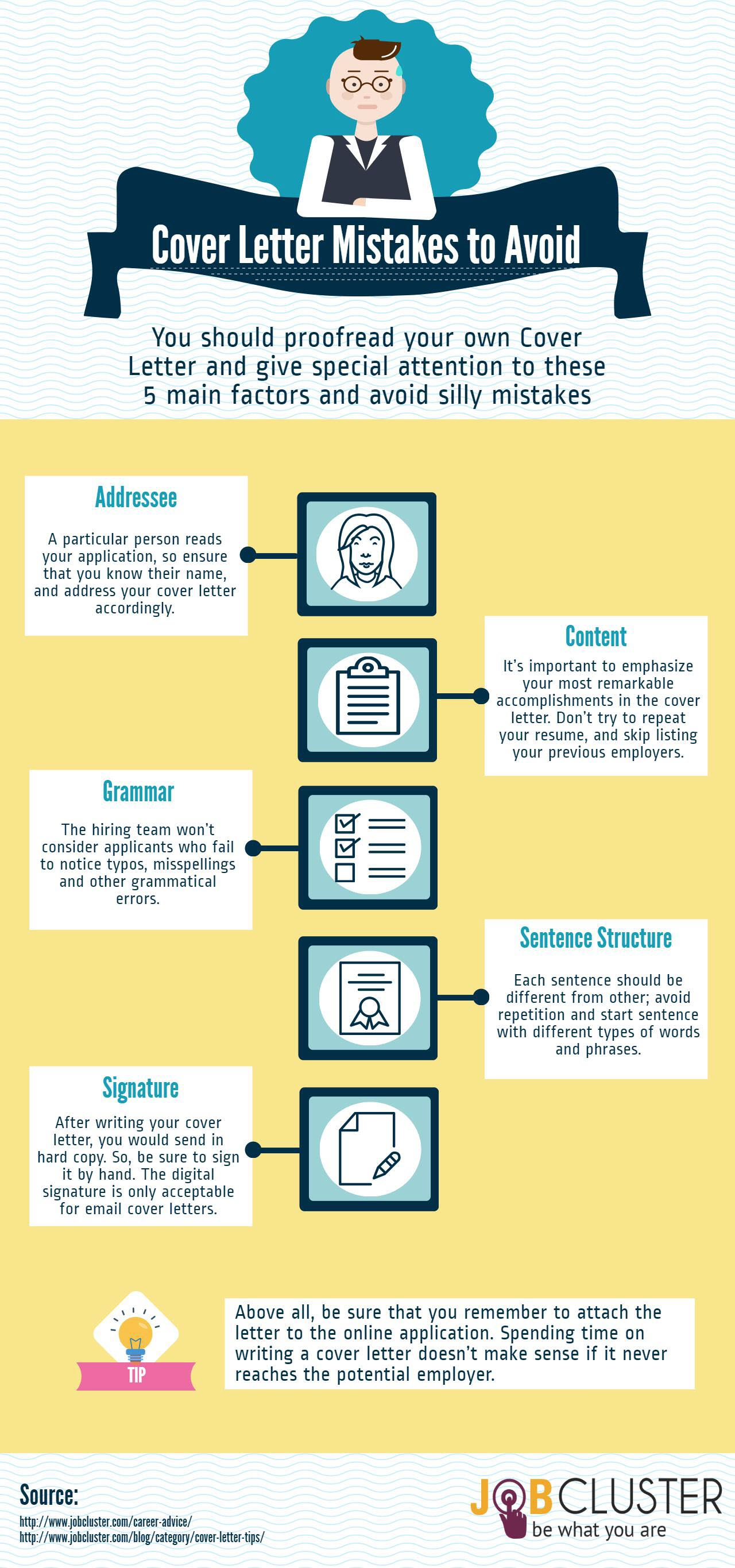 5 Common Mistakes While Writing A Cover Letter