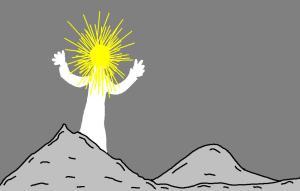 clipart jesus transfiguration