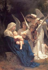William-Adolphe Bouguereau, Song of the Angels, 1881, public domain, WikiArt