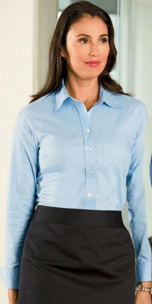 business shirt for women blue