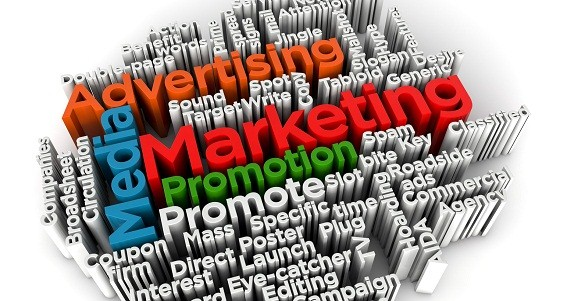 Marketing and advertising cloud word 3d