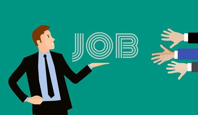 Person announcements regarding govt job opening