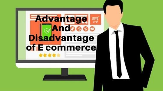 Men is explaining advantage And disadvantage of E commerce