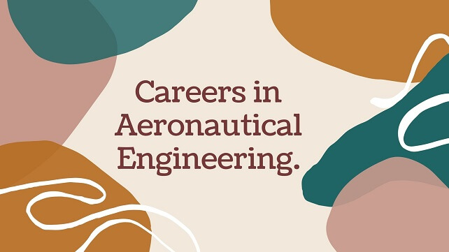 Light brown background with text words Careers in Aeronautical Engineering.