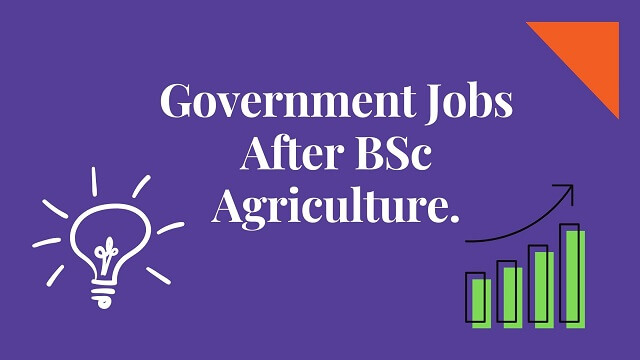Dark blue bag round with whitetext words Government Jobs After BSc Agriculture.