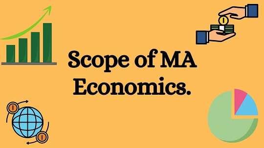 Light orange baground with black text words Scope of MA Economics.
