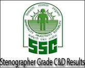 SSC Stenographer Result