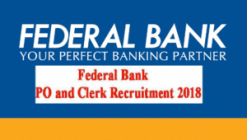 Federal Bank PO Clerk Recruitment