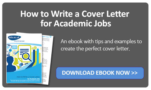 how to write an academic job cover letter