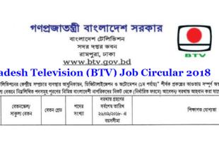 Bangladesh Television (BTV) Job Circular 2018
