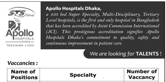 Apollo Hospitals Job Circular 2018