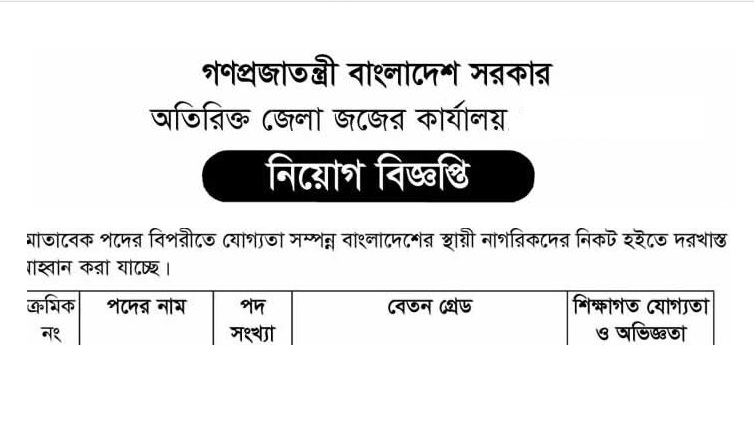District Judge Court Job Circular 2019